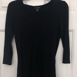 Black long sleeved top